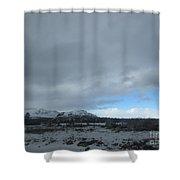 Arizona Winter Landscape Shower Curtain