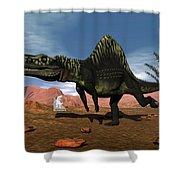 Arizonasaurus Dinosaur - 3d Render Shower Curtain