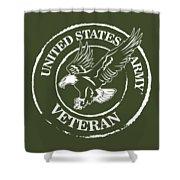 Army Veteran Shower Curtain