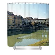 Arno River In Florence Italy Shower Curtain