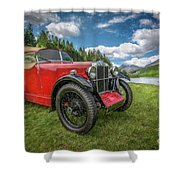 Arriving In Style Shower Curtain by Adrian Evans
