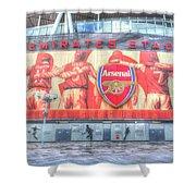Arsenal Football Club Emirates Stadium London Shower Curtain