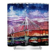 Arthur Ravenel Jr Bridge Charleston Shower Curtain