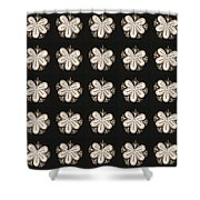 Artistic Sparkle Floral Black And White Graphic Art Very Elegant One Of A Kind Work That Will Show G Shower Curtain