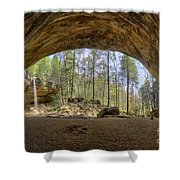 Ash Cave Waterfall Shower Curtain