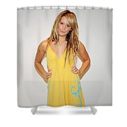 Ashley Tisdale Shower Curtain