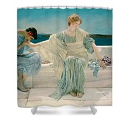 Ask Me No More Shower Curtain by Sir Lawrence Alma-Tadema