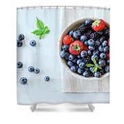 Assortment Of Berries Shower Curtain