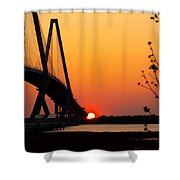 At The End Of The Bridge Shower Curtain