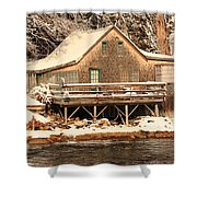 At The Lake Shower Curtain