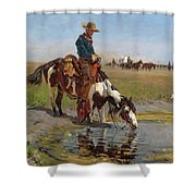 At The Watering Hole Shower Curtain