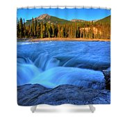 Athabasca Falls In Jasper National Park Shower Curtain