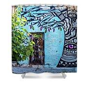 Athens Graffiti Shower Curtain