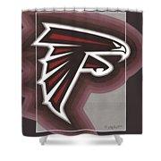 Atlanta Falcons Logo T-shirt Shower Curtain