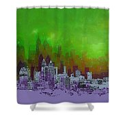 Atlanta Skyline 4 Shower Curtain