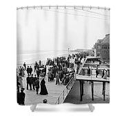 Atlantic City: Boardwalk Shower Curtain