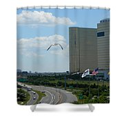 Atlantic City Skyline Shower Curtain