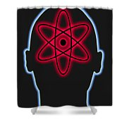 Atom Diagram Shower Curtain