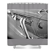 Auburn Boattail Speedster Shower Curtain