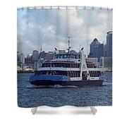 New Zealand - Devonport Ferry Shower Curtain