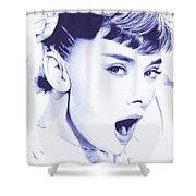 Audrey - Ballpoint Pen Art Shower Curtain