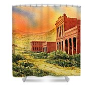 Aurora Ghost Town Nevada Shower Curtain