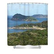 Australia - Broken Bay's Lion Island Shower Curtain