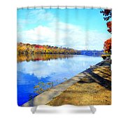 Autumn Afternoon On The Schuykill River Shower Curtain