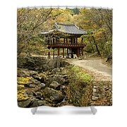 Autumn At Seonamsa Shower Curtain