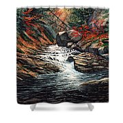 Autumn Brook Shower Curtain