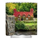 Autumn Cottage Shower Curtain