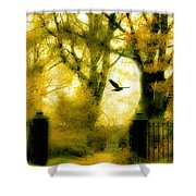 Autumn Graveyard Shower Curtain