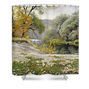 Autumn Landscape In The Vicinity Of Eshar Shower Curtain