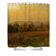Autumn Landscape New England Shower Curtain