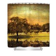 Autumns Golden Mirror Shower Curtain