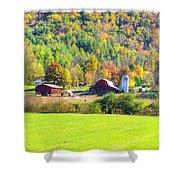Autumn On The Farm Shower Curtain