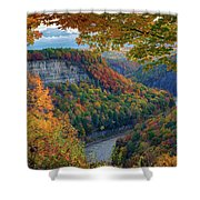Autumn On The Genesee II Shower Curtain