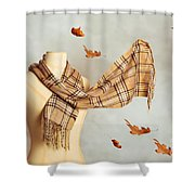Autumn Scarf Shower Curtain