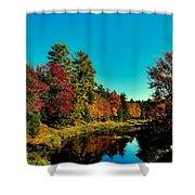 Autumn Splendor On The Moose River Shower Curtain