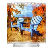 Autumn Splendor Watercolor Shower Curtain
