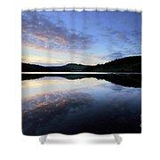 Autumn Sunset, Ladybower Reservoir Derwent Valley Derbyshire Shower Curtain