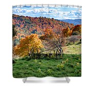 Autumn This Side Of Heaven Shower Curtain