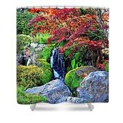Autumn Waterfall - Digital Art 5x3 Shower Curtain