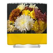 Autumn Yellow Flower Shower Curtain
