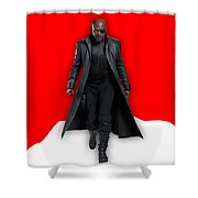 Avengers Nick Fury Collection Shower Curtain