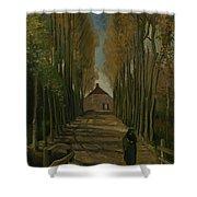 Avenue Of Poplars In Autumn Nuenen, October 1884 Vincent Van Gogh 1853 - 1890 Shower Curtain