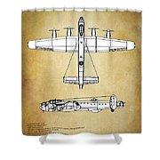 Avro Lancaster Bomber Shower Curtain