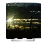 Az Cloudy Sunset Shower Curtain