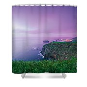 Azores Coastal Landscape Shower Curtain