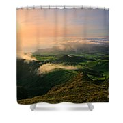 Azores Islands Landscape Shower Curtain